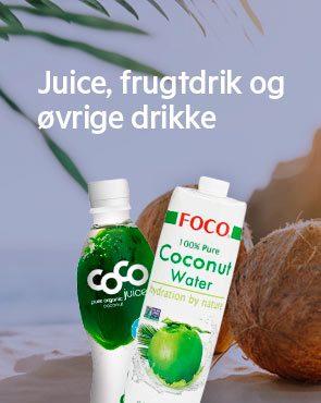 Juice, frugtdrik og øvrige drikke